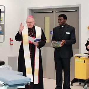 Archbishop Coleridge blesses hybrid theatre