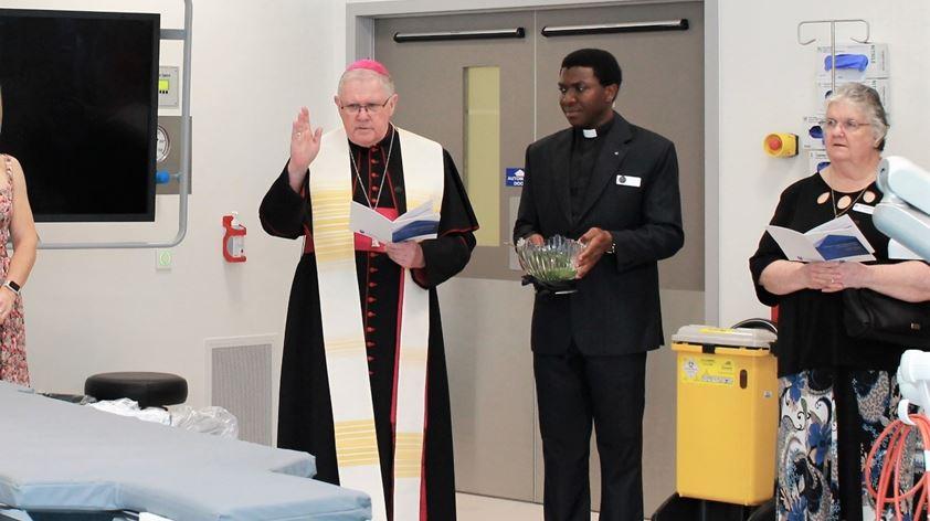 Archbishop Coleridge blesses the hybrid theatre
