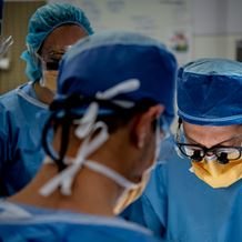 Orthopaedic surgeons operate in a theatre