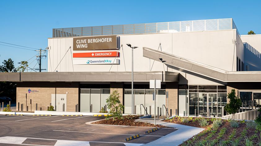 Toowoomba's new Emergency Department seen from outside