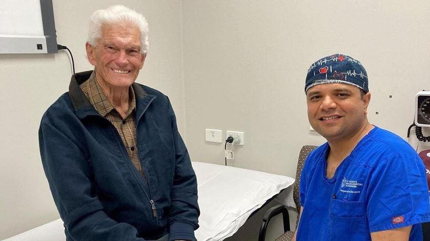Colin Kessler with Dr Devang Desai