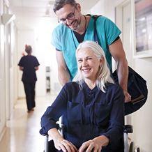 Total Hip Replacement Patient Wheelchair Nurse