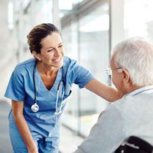 A nurse comforts patient
